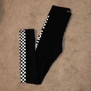 checkered black leggings